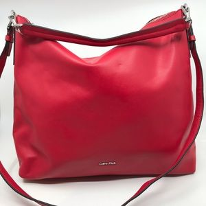 Calvin Klein leather Hobo crossbody